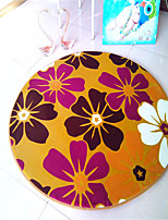 Hot Sale Super Soft Coral Fleece Material Non-Slip Circular Mat W24