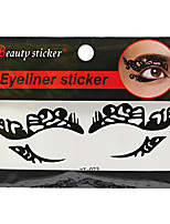 Abstract Fashion Lace Hollow Black Face Sticker YT-023