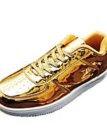 Men's Shoes PU Casual Fashion Sneakers Casual Flat Heel Black / Silver / Gold