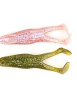 3 pc Esche morbide / Shad Nero / Rosa / Verde luce / Verde bosco / Rosso / Giallo 15 g/1/2 Oncia,100 mm/4