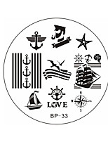 BORN PRETTY Sailors & Sea Sailing Theme Nail Art Stamp Template Image Plate BP33
