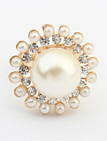 New Hot Elegant Women Rings Gold Alloy Pearl Imitation Rings Women Party Charm Fashion Jewelry For Women