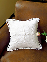 Pure White Eco-Friendly Cotton 100% Handmade 3D Flower Wedding Chair Decor