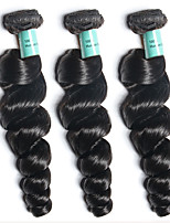 3 Bundles Brazilian Virgin Hair Loose Wave Unprocessed Human Hair Weave Extensions