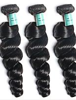 3 Pièces Ondulation Lâche Tissages de cheveux humains Cheveux Brésiliens Tissages de cheveux humains Ondulation Lâche