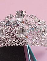 Vrouwen Bergkristal / Kristallen / Licht Metaal Helm-Bruiloft / Speciale gelegenheden / Informeel / Buiten Tiara's 1 Stuk