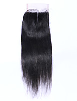 7A Brazilian Straight Lace Closure Free Middle 3 Part Lace Closure Brazilian Lace Closure Human Hair Top Closures