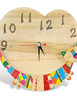 Wood Cat Clock