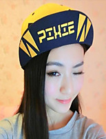 Korean Letters Printed Color Stitching Men And Women Hip-hop Baseball Hat