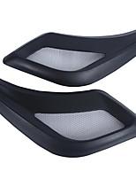 Pair Car Auto Exterior Decorative Black Plastic Side Air Flow Vent Fender 3D Sticker