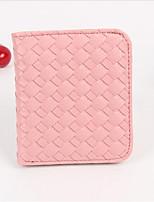 Women-Casual-PU-Coin Purse-Pink / Red / Black