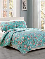 3PC Quilt Sets Full Cotton Euro Floral Pattern 92