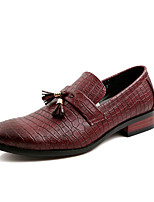 Men's Shoes PU Casual Oxfords Casual Black / Brown / Burgundy