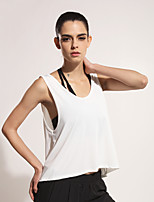 Women's Running Tank Fitness / Leisure Sports / Running Quick Dry / Lightweight Materials White / Black  Sports Wear