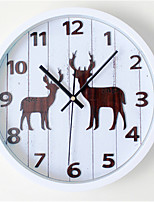 3D Stereo Forest Fawn Wall Clock