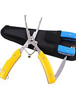 fonctions multiples pinces de pêche en acier inoxydable ciseaux de nez courbes coupe de tresses accrochent coupe de ligne de pêche