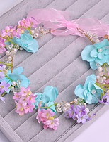 Women's Tulle / Imitation Pearl / Fabric Headpiece-Wedding / Special Occasion / Casual Flowers 1 Piece