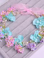 Fleurs Casque Mariage / Occasion spéciale / Casual Tulle / Imitation de perle / Tissu Femme Mariage / Occasion spéciale / Casual 1 Pièce