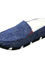 Men's Shoes Casual Canvas Loafers Black / Blue / Khaki