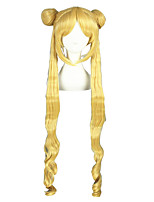 Long Curly Sailor Moon Blonde Synthetic 40inch Anime Cosplay Wig CS-022A