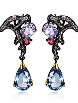 New Tiny design 18K Gold Black Plated Cubic Zirconia Brass Lead free Clip on earrings for women