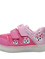 LED'S Shoes Girls' Shoes Outdoor / Casual Comfort Synthetic / Tulle Fashion Sneakers Green / Pink / Red