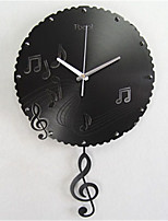 Happy Melody Notes Creative Wall Clock