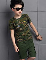 Boy's Cotton Summer Camouflage  Harem Pants Clothing Two-Piece Sweat Suit