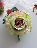 Bouquets de Noiva Forma-Livre Peônias Alfinetes de Lapela Casamento / Festa / noite Azul / Fúcsia / Rosa / Verde / Beje Poliéster / Cetim