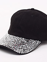 Unisex Korean Style Full Crystals Sport Outdoor Baseball Cap