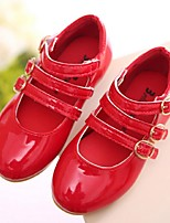 Girls' Shoes Casual / Dress Patent Leather Flats Spring / Summer Mary Jane Black / Pink / Red
