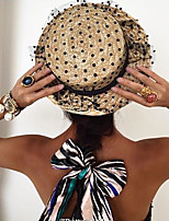 Ms. Wheat-colored Sun Lace Gauze  Beach Hat