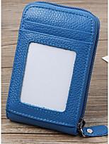 Unisex-Professioanl Use-Cowhide-Coin Purse-Blue / Brown / Black / Fuchsia