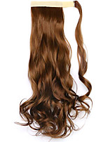Borwn Length 45CM  The New Velcro Curly Wig Horsetail(Color 27)