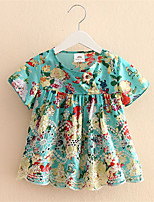 Lovely Toddler Kids Girls Party Cotton Soft Floral Flounced Tops Blouses T-shirt