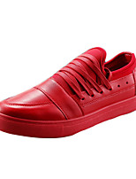 Men's Shoes Casual PU Fashion Sneakers Black / Red / White