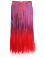 ombre 55 centímetros sintetico perruque cabelo natural traje peruca grampo de cabelo sintético em linha reta em extensões do cabelo pad