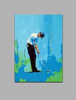 les gens de golf peints à la main peinture à l'huile avec cadre tendu