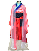 Mulan Hua Cosplay Costumes Kimono Coat / Skirt / Apron / Corset / Belt