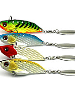 6cm 20g/Pcs Sequinned VIB Bait Swimming Rattlesnake Shake Shake VIB Lures 4 Pcs/set