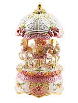 poterie rose créative boîte de musique romantique pour le cadeau