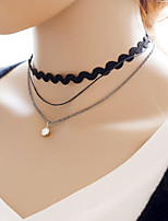Women's Black Lace Choker Necklace Anniversary / Daily / Special Occasion / Office & Career