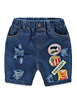 Children Broken Hole Pants Trousers 2016 Baby Boys Girls Jeans Brand Fashion Summer 2-7 Years Kids Trousers