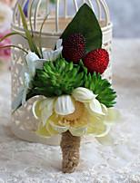 Bouquets de Noiva Forma-Livre Peônias Alfinetes de Lapela Casamento / Festa / noite Multi-Côr Poliéster / Cetim