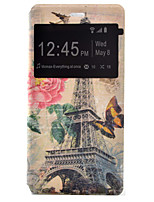 Transmission Tower Painted Voltage Holster PU Material Clamshell Phone Cover for Huawei Ascend P9/P9 Lite