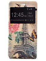 tour de transmission de tension peint étui PU clamshell couverture de téléphone pour Huawei Ascend p9 / p9 Lite