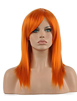 hannah anafeloz peluca recta larga peluca cosplay media naranja sintético.