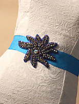 Satin Wedding / Party/ Evening Sash-Rhinestone Women's 70 ¾in(180cm) Rhinestone