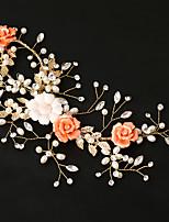 Mulheres Pérola / Liga / Acrilíco Capacete-Casamento / Ocasião Especial Flores 1 Peça