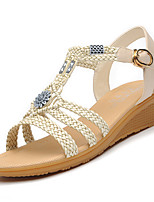 Women's Sandals Summer Wedges Synthetic Office & Career / Dress / Casual Wedge Heel Others Gold / Beige Others